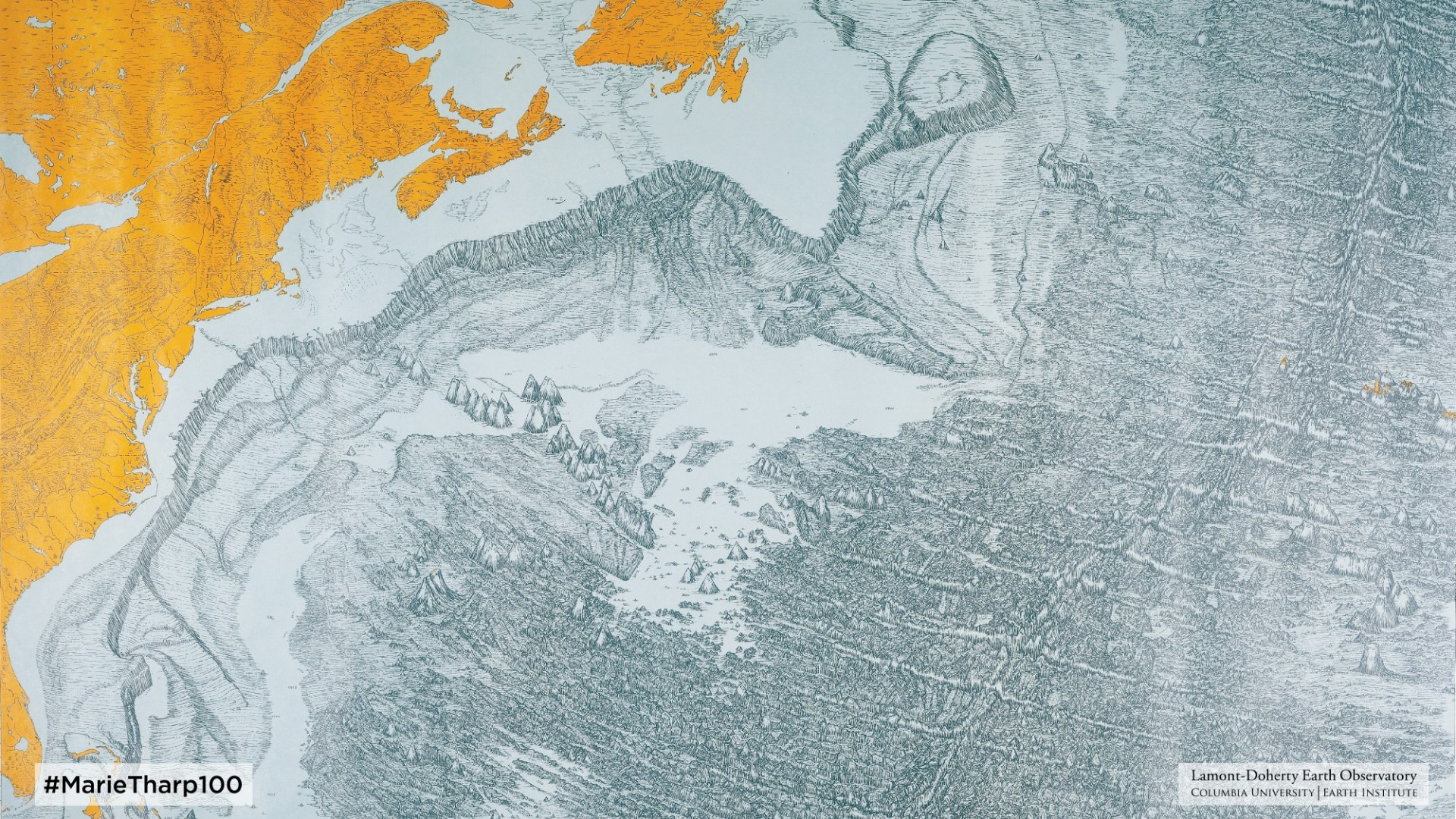 Detail of Physiographic Diagram of the North Atlantic Ocean (1959) by Heezen & Tharp
